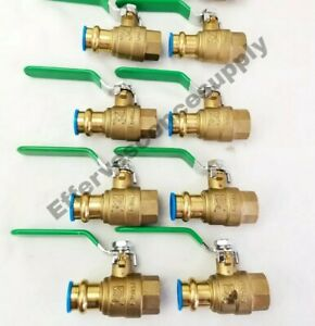 8 Pcs 1 Propress X 1 Female Brass Ball Valve Lead Free Press Ball Valves