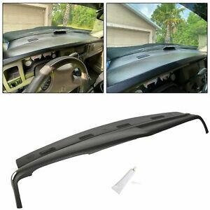 Fits 02 03 04 05 Dodge Ram Dashboard Dash Cover Cap One Piece Overlay Black