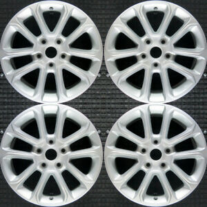 Jeep Grand Cherokee All Silver 18 Oem Wheel Set 2014 To 2016