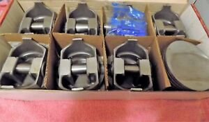 8 New Speedpro Forged Big Block Chevy Sealed Power Pistons L2399nf30 With Pins