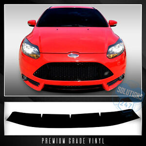 For 2013 2014 Ford Focus St Front Lower Lip Trim Decal Overlay Precut Wrap Matte