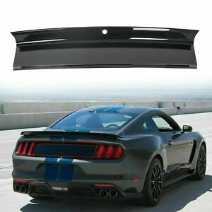 For 2015 2020 Ford Mustang Gt Gloss Black Rear Trunk Decklid Panel Trim Cover