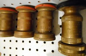 Used 3 463 1 1 2 Inch Powhatan All Fog Dnq Fire Hose Nozzles