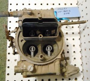 Used Holley Carburetor 4 Barrel List 1860 2 2376 For Parts Or Rebuild