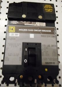 Square D Fa32020 20amp 3 Phase Breaker New Old Stock Chipped