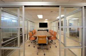 Custom Aluminum Glass Conference Room Divider Partition