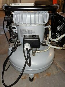 Jun air Model 6 15 15 Liter 4 Gallon Ultra Quiet Medical dental Compressor