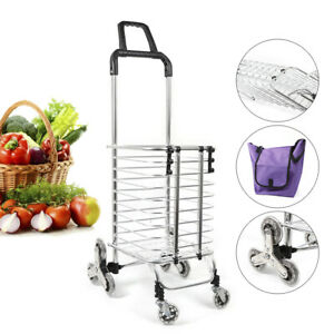 New Extra Large Multipurpose Shopping Luggage Laundry Cart 8 Wheels Trolley