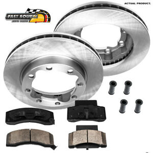 For 1994 1995 1996 1997 1998 1999 Dodge Ram 2500 3500 Front Rotors Ceramic Pads