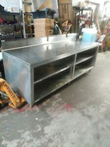 96x31x35 Stainless Work Table With Storage
