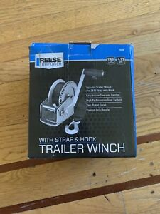 Reese Towpower Trailer Winch With Strap And Hook 20ft 1500lbs 4 1 1 Gear Ratio
