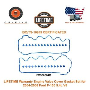 Lifetime Warranty Engine Valve Cover Gasket Set For 2004 2006 Ford F 150 5 4l V8