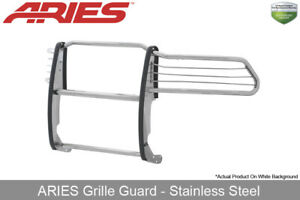 Aries Polished Stainless Steel Grille Brush Guard 1pc For 2010 19 Dodge Ram 1500