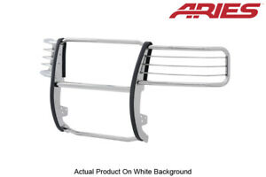 Aries Polished Stainless Steel Grille Brush Guard For 2007 13 Chevy Silverado