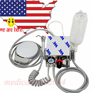 Portable Dental Turbine Unit Syringe Handpiece Work With Air Compressor 4 Hole
