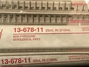 Serological Pipets Polystyrene Sterile Individually Wrapped 25ml Pack Of 25
