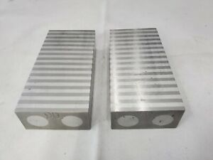 Pair Of Magnetic Parallel Blocks For Surface Grinder Ships Free