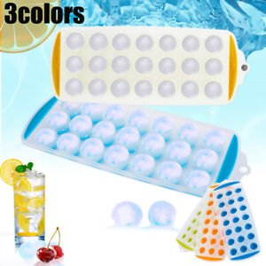 Round Silicon Ice Cube Ball Maker Tray 21 Large Sphere Molds Bar Bpa Free