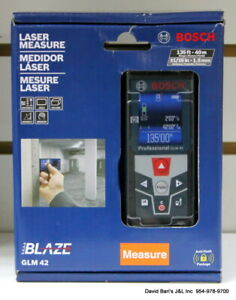 Bosch Blaze 135 Ft Laser Measurer With Full Color Display Glm42
