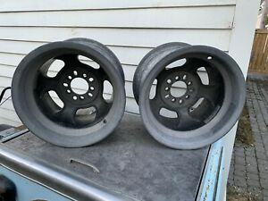 Pair Of Vintage Halibrand Magnesium Big Window 16 X 10 Wheels 5 On 5 5 1 2 4 3
