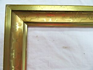 Antique Fit 8 X 10 Gold Gilt Picture Frame Wood Fine Art Country Stencil