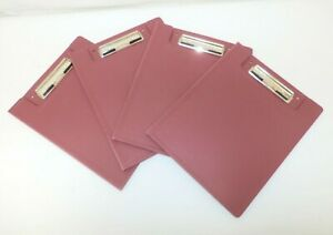 Lot Of 4 Carstens 9830 Heavy Duty Plastic Red Low profile Nursing Clipboards