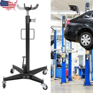 Hydraulic Transmission Jack 0 5 Ton 2 Stage W 360 Swivel Wheels Car Lift Ro