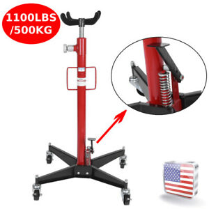 Red 1100lbs 2 Stage Hydraulic Transmission Jack W 360 Swivel Wheels Lift Hoist
