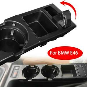 Black For Bmw E46 323 325 328 330 Center Console Cup Holder Coin Storage Tray