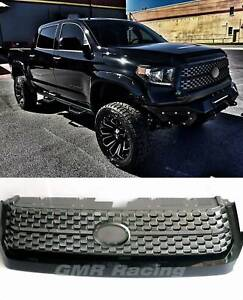 Black For 2014 20 Tundra Upgrade Front Grille Gloss Black Replacement