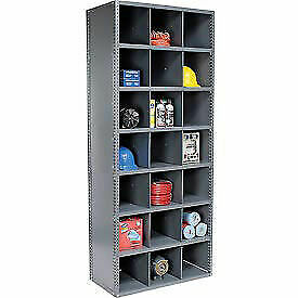 78 Compartment Steel Storage Bin Cabinet With Plastic Dividers 36x18x85