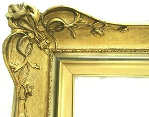 Antique Fits 16x20 French Rococo Baroque Gold Picture Frame Wood Ornate Fine Art