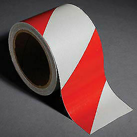 Incom Reflective Safety Tape 3 w X 30 l Striped Red white 1 Roll