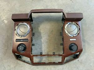 2013 2015 F250 F350 Radio Bezel Navigation Wood Dash Trim Kit Ford Oem