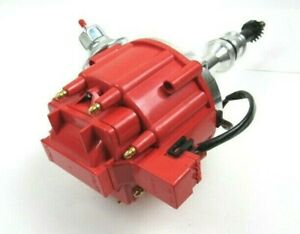 Ford Sbf 289 302w Hei Distributor 65k Coil Aluminum Rtr Red Cap D33105r