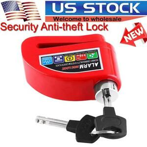 Anti theft Wheel Disc Brake Lock Security Alarm Motorcycle Bicycle Scooter