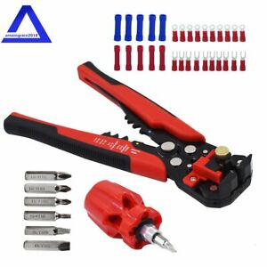 Self adjusting Insulation Wire Stripping Tool With With Mini Screwdriver Set 8