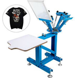 Screen Printer Screen Printing Machine 4 Color 1 Station For T shirts