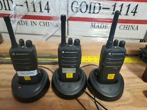 Lot Of 3 Motorola Cp200d Radios W Chargers And Power Cords Aah01qdc9jc2an