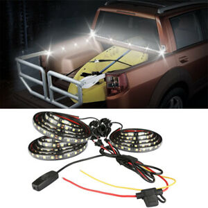 3x 60 Flexible Led Bar Truck Bed Accessories Cargo Light Kit Switch For Pickup