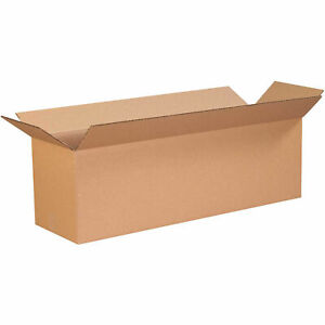 24 X 10 X 8 Long Cardboard Corrugated Boxes 65 Lbs Capacity Ect 32 Lot Of