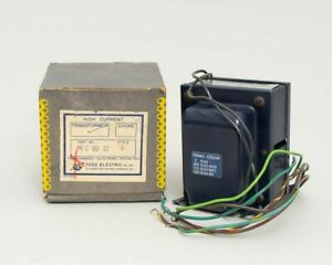 Todd Electric Model Hc 8002 Style V High Current Transformer With Original Box