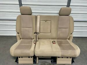 2007 2014 Suburban Escalade Esv Yukon Xl 2nd Second Row Tan Cloth Bench Seat