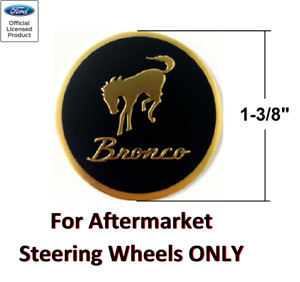 Classic Steering Wheel Horn Button Insert Decal For Ford Bronco 1 3 8