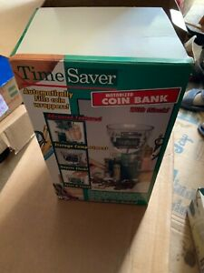 Time Saver Motorized Coin Sorting Machine Bank Battery Operated Coin Wraps
