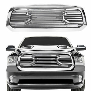 Front Big Horn Chrome Packaged Grille Chrome Shell For 13 2018 Dodge Ram 1500