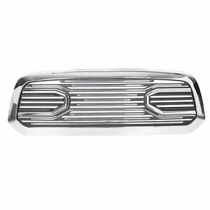 Big Horn Chrome Packaged Grille chrome Shell For 2013 18 Dodge Ram 1500