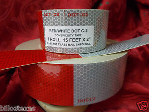 15 Roll Safety Conspicuity Trailer Tape Reflective fast Free Shipping Dot C2