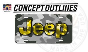Camouflage Aluminium License Plate Tag Custom For Car Room