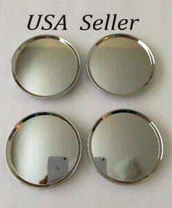 4 Pcs Universal Chrome Wheel Center Caps 63mm 2 1 2